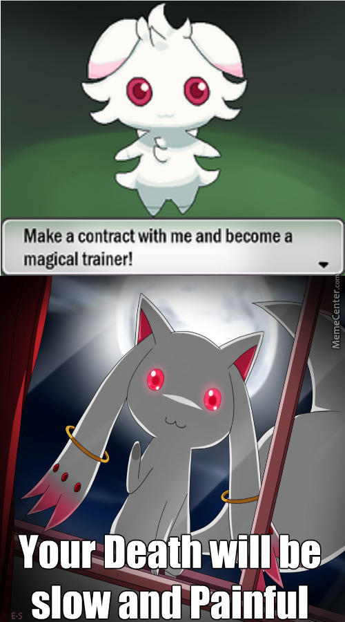 espurr as incubator there can only be one puella magi madoka magica_o_2878271 espurr as incubator there can only be one puella magi madoka,Puella Magi Madoka Magica Meme