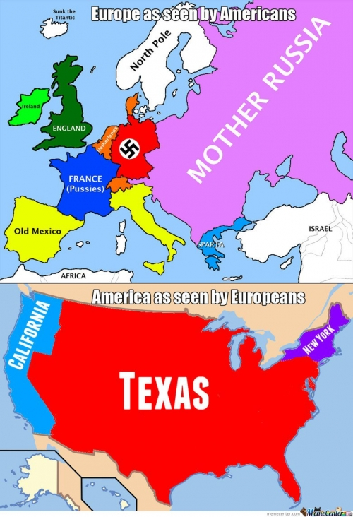 Europe as seen by Americans remixed