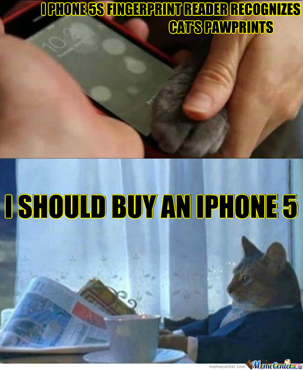 Even Cats Want The Iphone 5