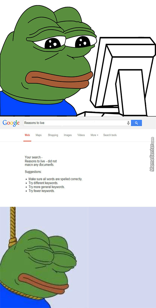 Even Google Cant Help Pepe The Sad Frog