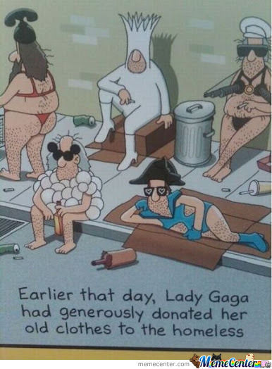 Even Lady Gaga Wante To Help The Homeless