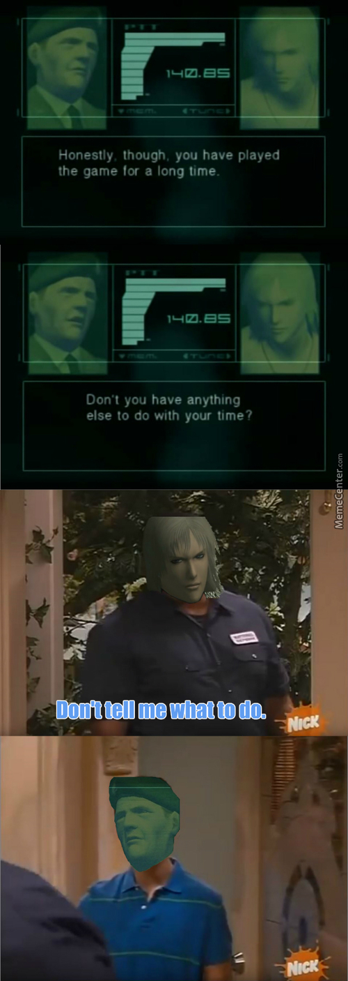 Even The Games Are Telling Me Now When To Stop Playing (Mgs: Sons Of Liberty)