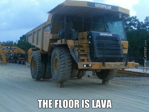 Even Transformers Play The Floor Is Lava