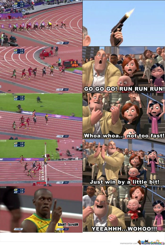 Every Time I See Usain Bolt Race, I Can't Help But Imagine