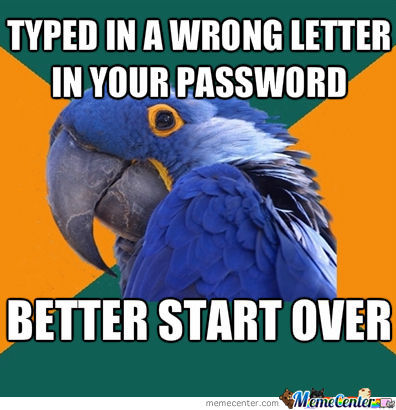 Every Time I Type In A Password