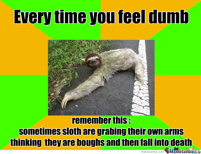 Every Time You Feel Dumb By Qnike Meme Center - Every time you feel dumb