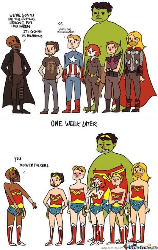 Everybody Where Dressing Up As The Justice League