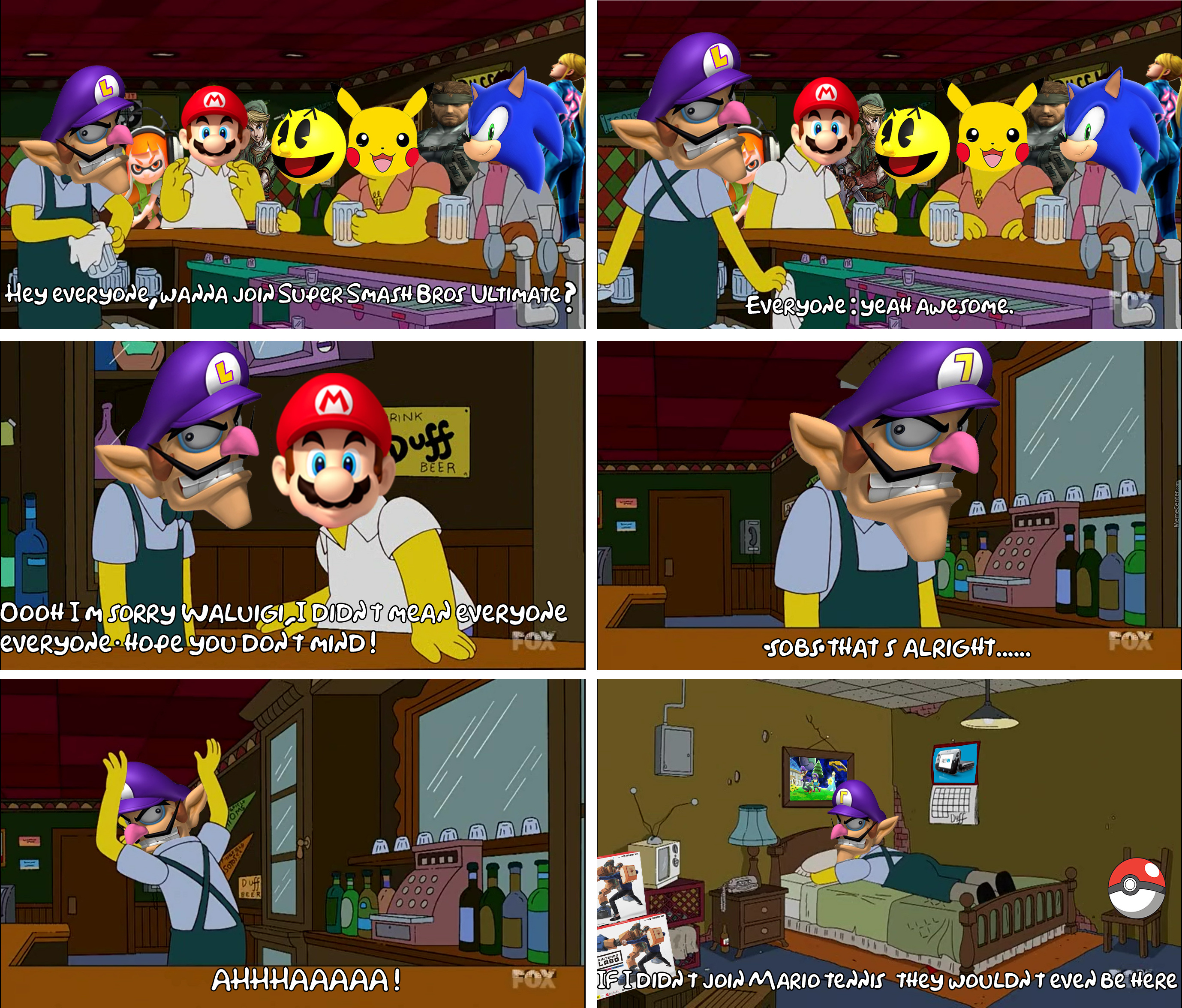 Everyone Is In But Waluigi Even Pac Man S In By Doulla Meme Center