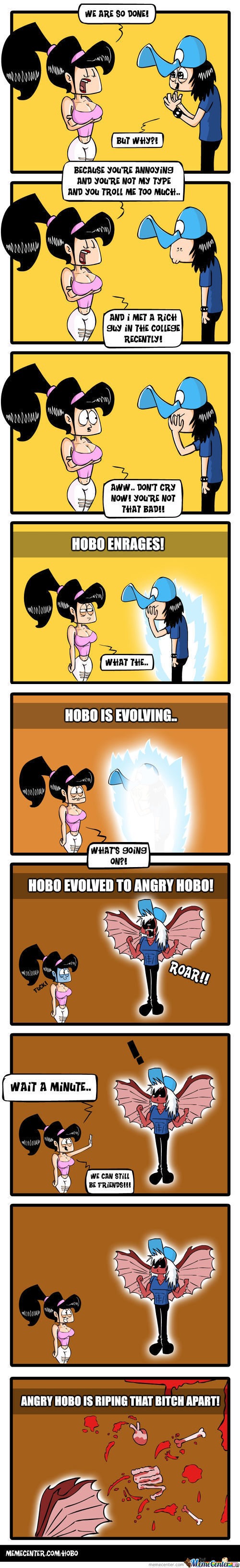 Evolution: Angry Hobo!