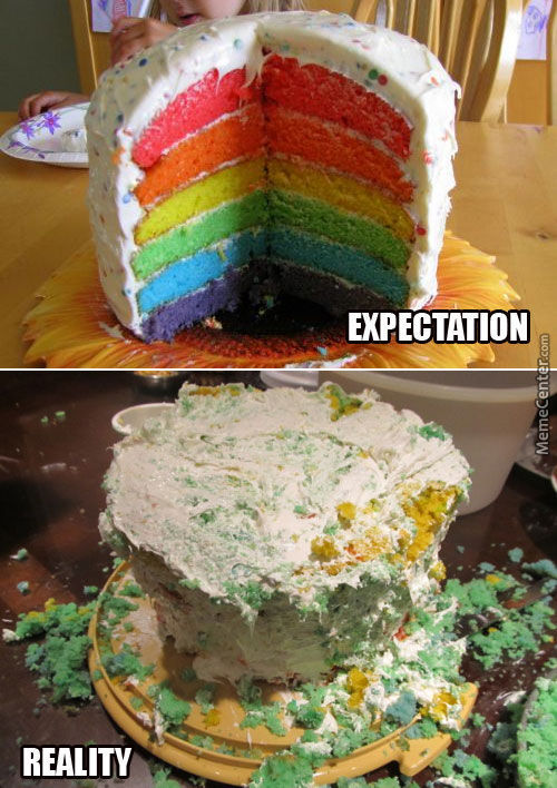 Expectation Vs Reality Cake
