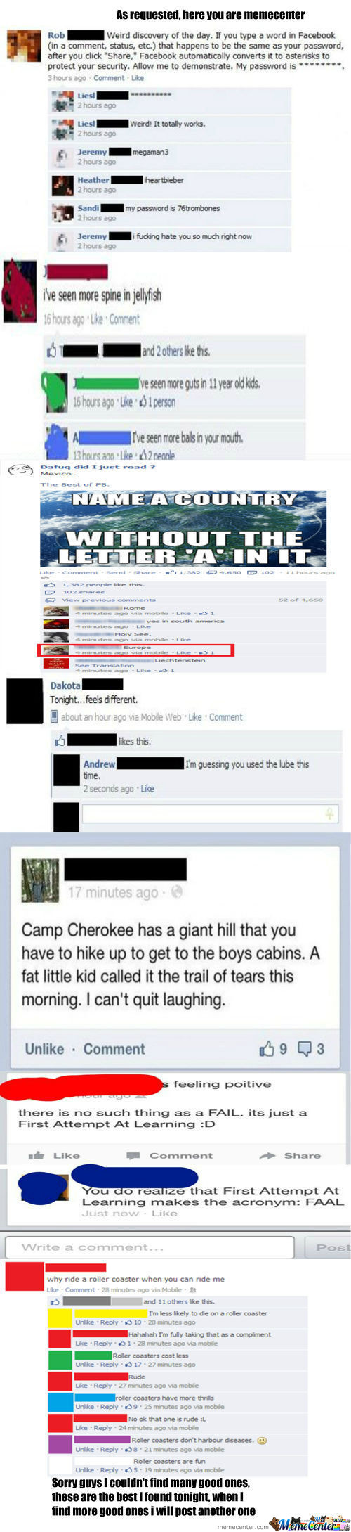 Facebook Fail Part 3 -Tbc-