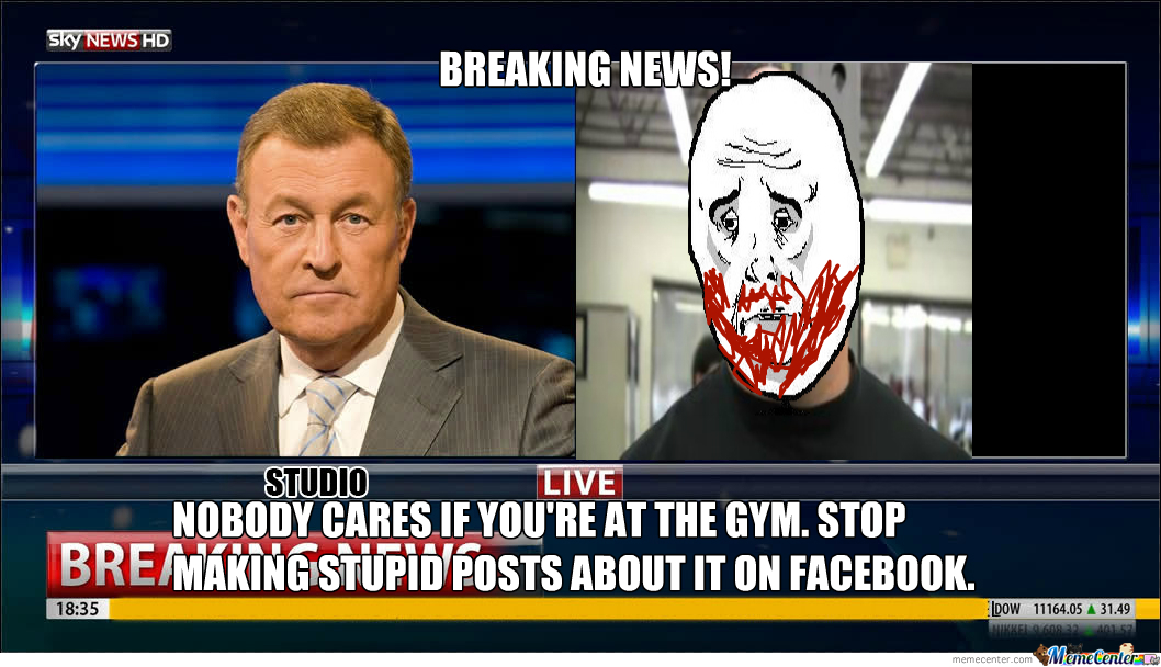 facebook gym posts_o_2085585 facebook gym posts by trollinmcrollin420 meme center