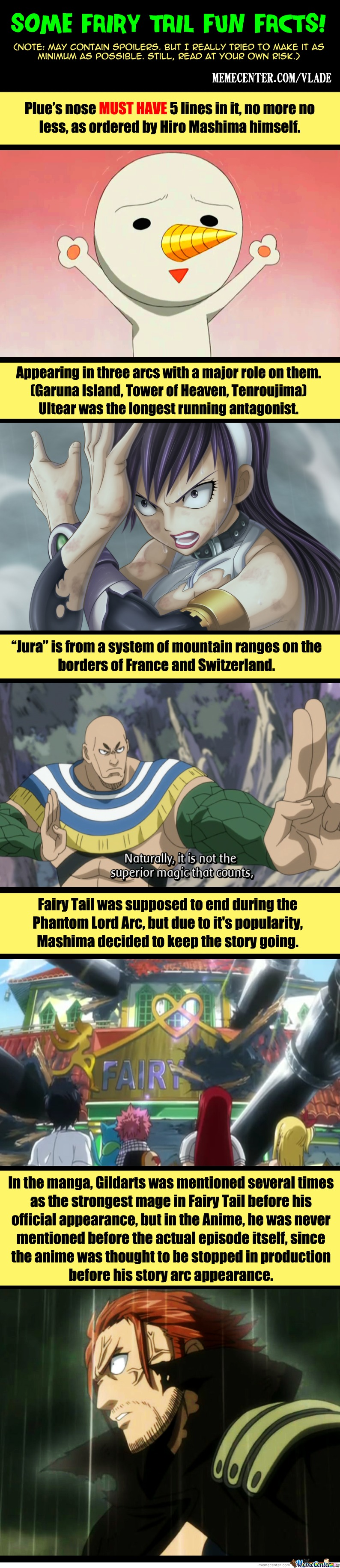 Fairy Tail Fun Facts!