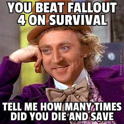 Fallout 4 Fans Asking Each Other How They Did In Survival