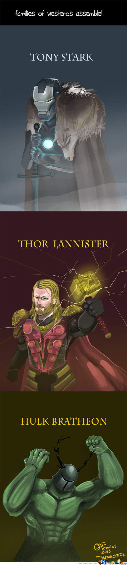 Families Of Westeros Assemble!