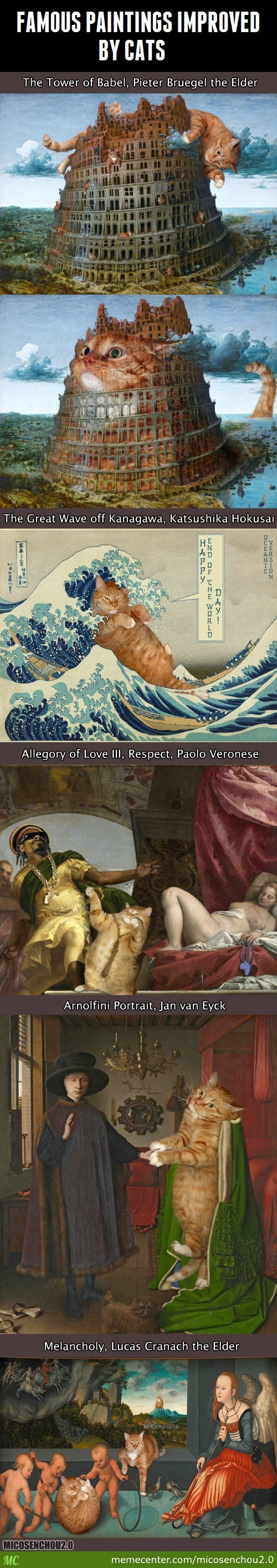 Famous Paintings Improved By Cats Part 2