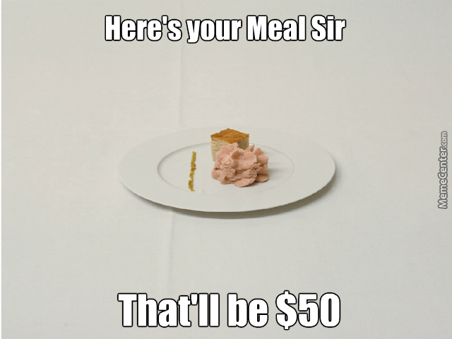 Fancy Dining In A Nutshell