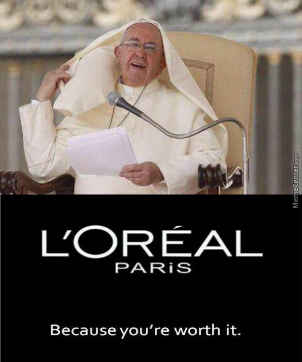 Fashion 'popes' Out Of Me.