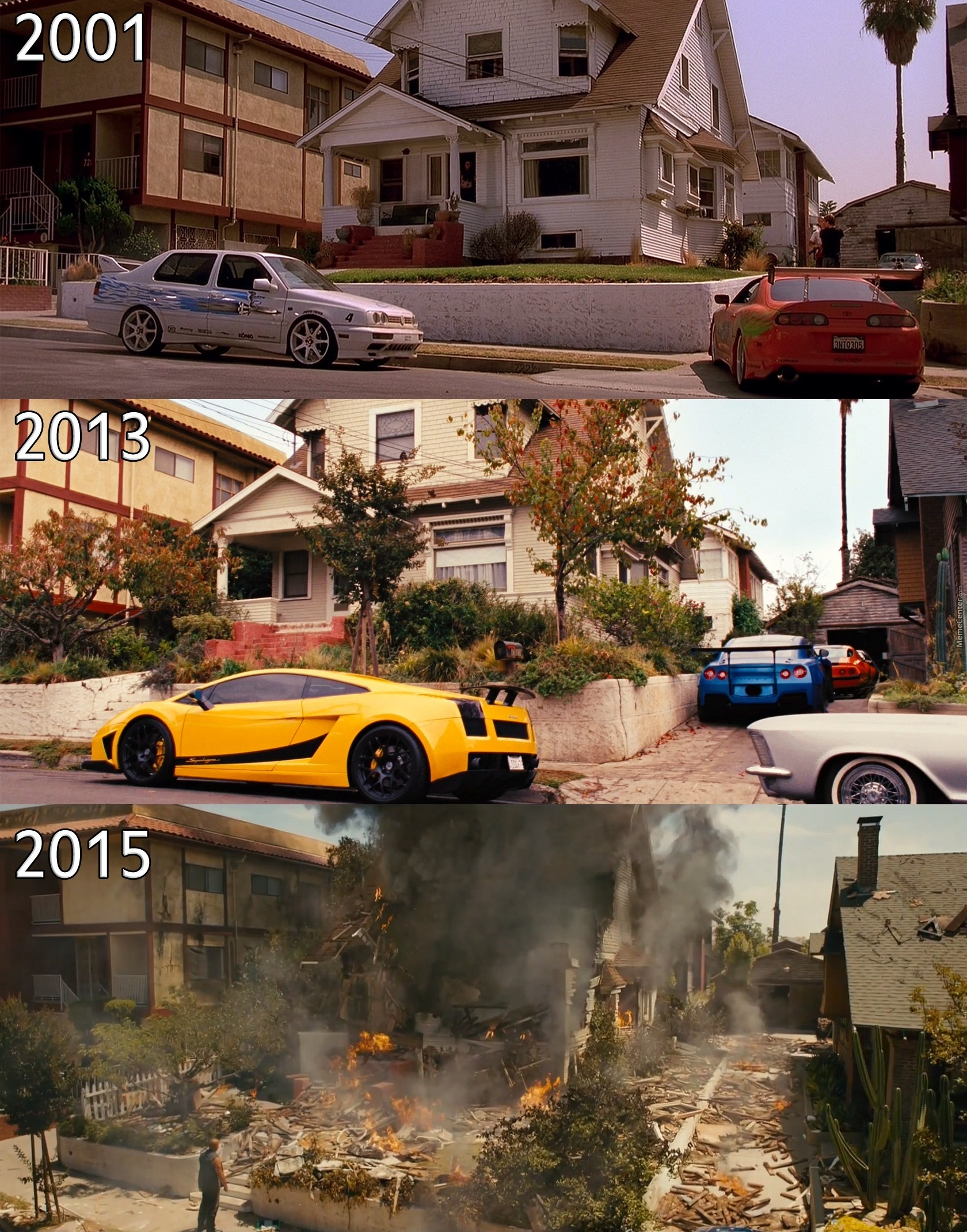 Fast And Furious 2001 2015 Paul Walker By Recyclebin Meme Center