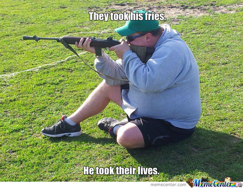Fat Guy With A Gun