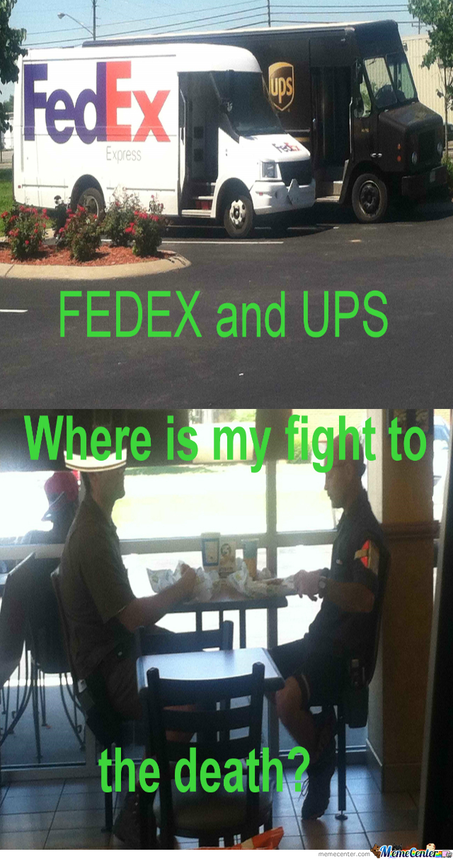Fedex And Ups, Friends?