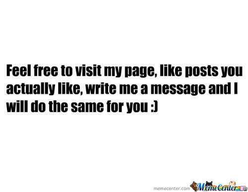 Feel Free To Visit My Page