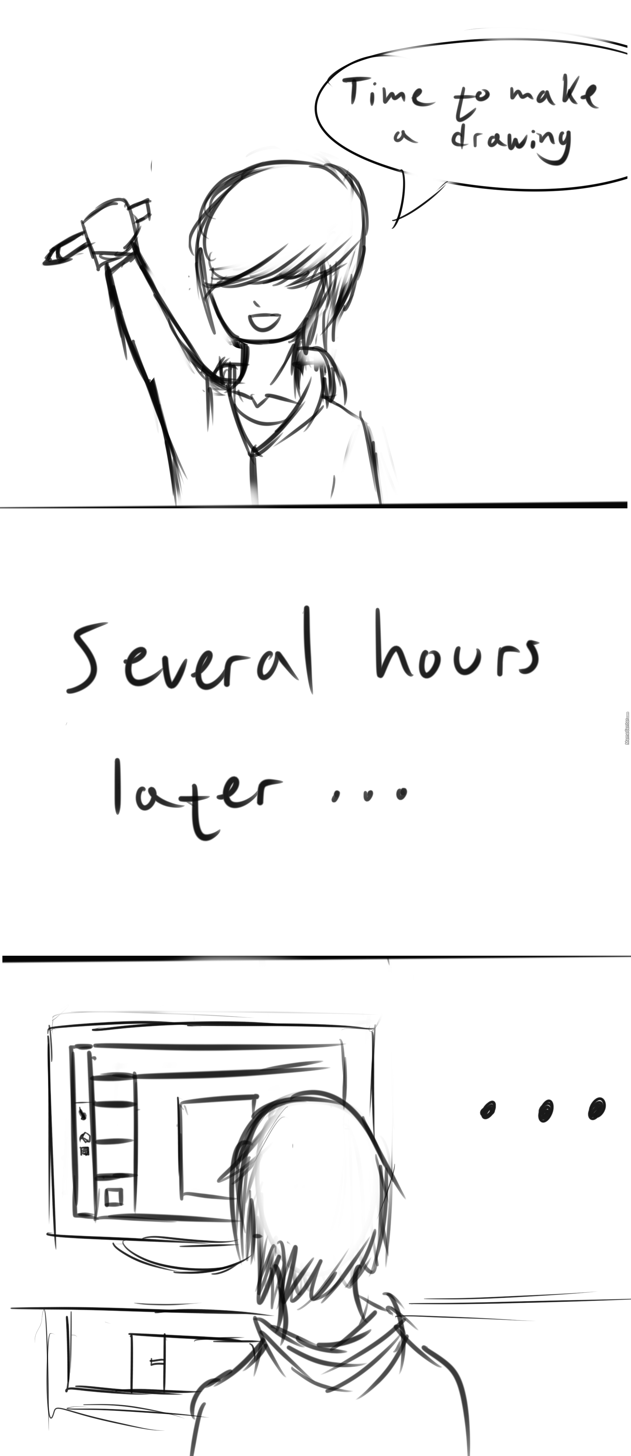 Felt Like Drawing Something Made A Crappy Comic Instead, Hope You Enjoy It