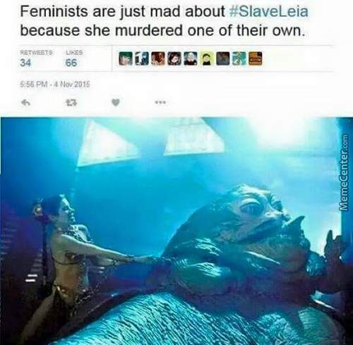 Feminists Being Mad About  Slave Leia