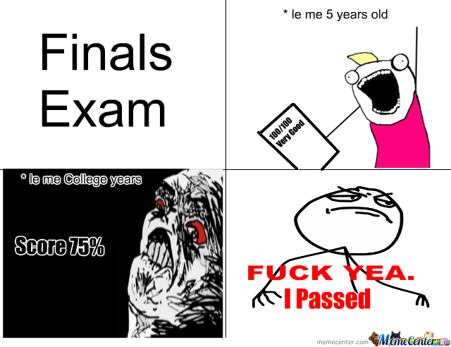 Funny Exam Memes Tumblr : Finals exam by brightwood meme center