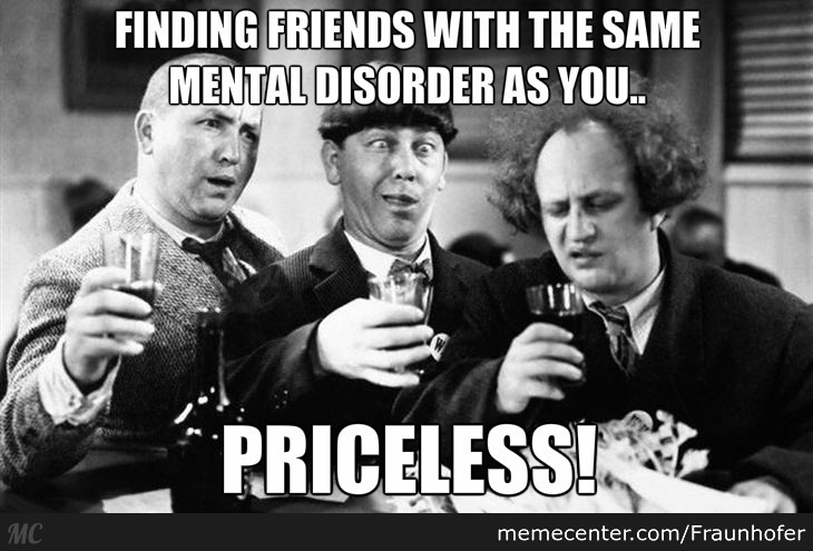 Finding Friends With The Same Mental Disorder As You..