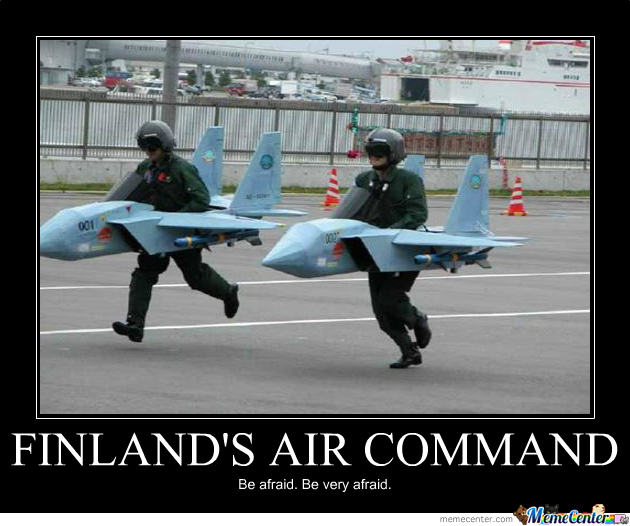 Finland's Air Commant, Be Very Afraid By Siwax