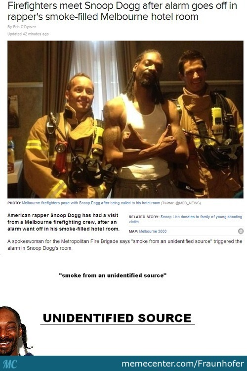 Firefighters Meet Snoop Dogg