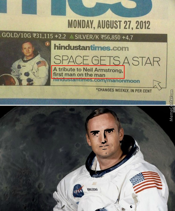 First Man On The Man You Say