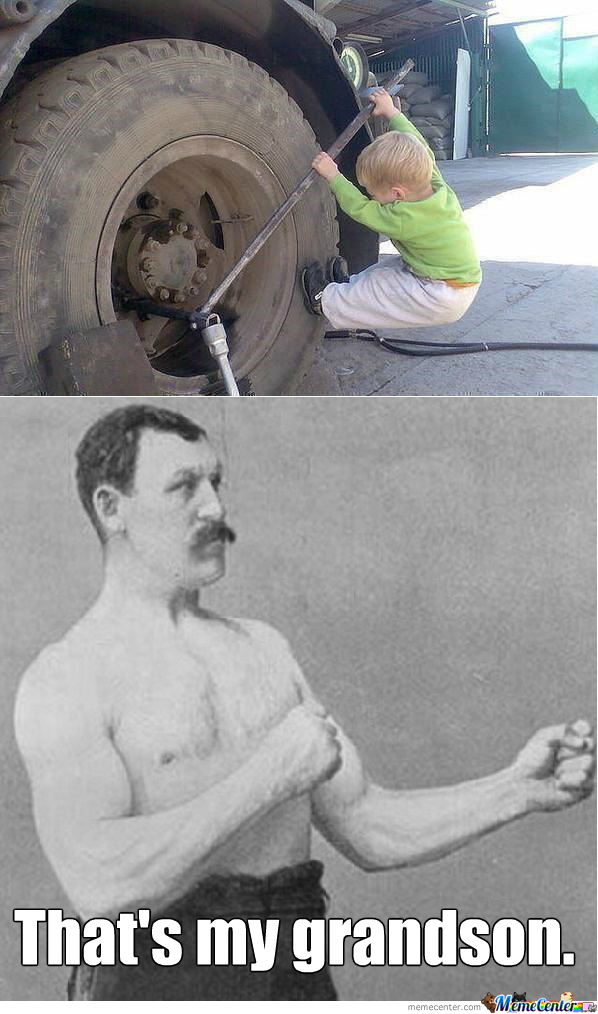 Flat Tire? Overly Manly 3-Year-Old