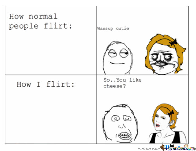 flirting meme awkward people video online