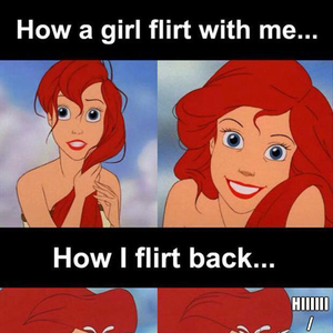 flirting signs he likes you memes funny