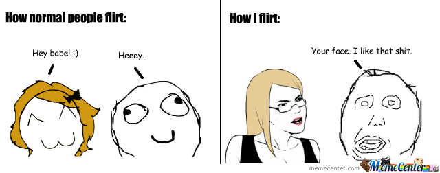flirting memes with men pictures cartoon face drawings