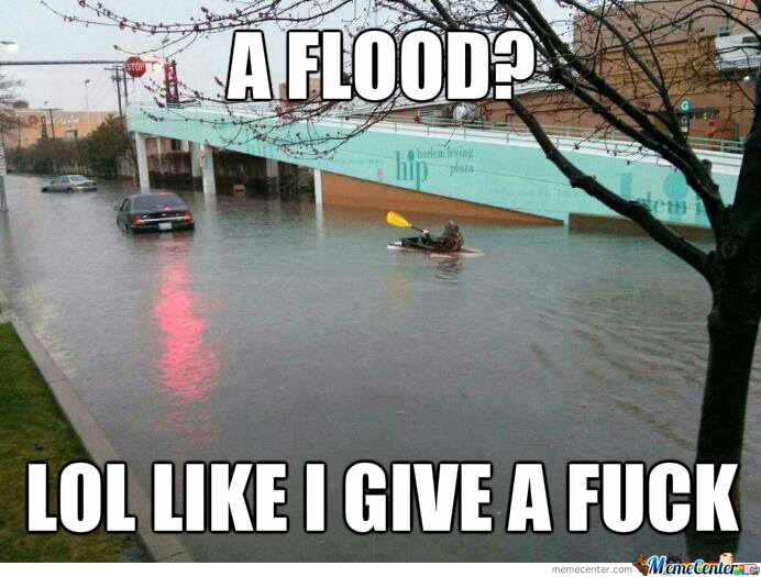 Flood? Good Time To Go Boating