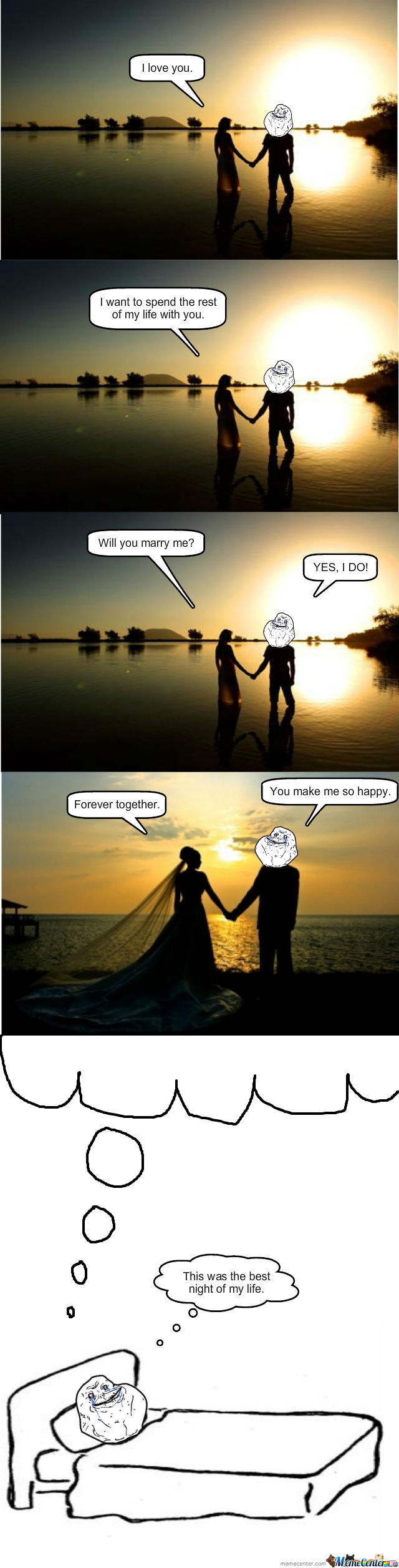 Forever Alone Guy Scores!