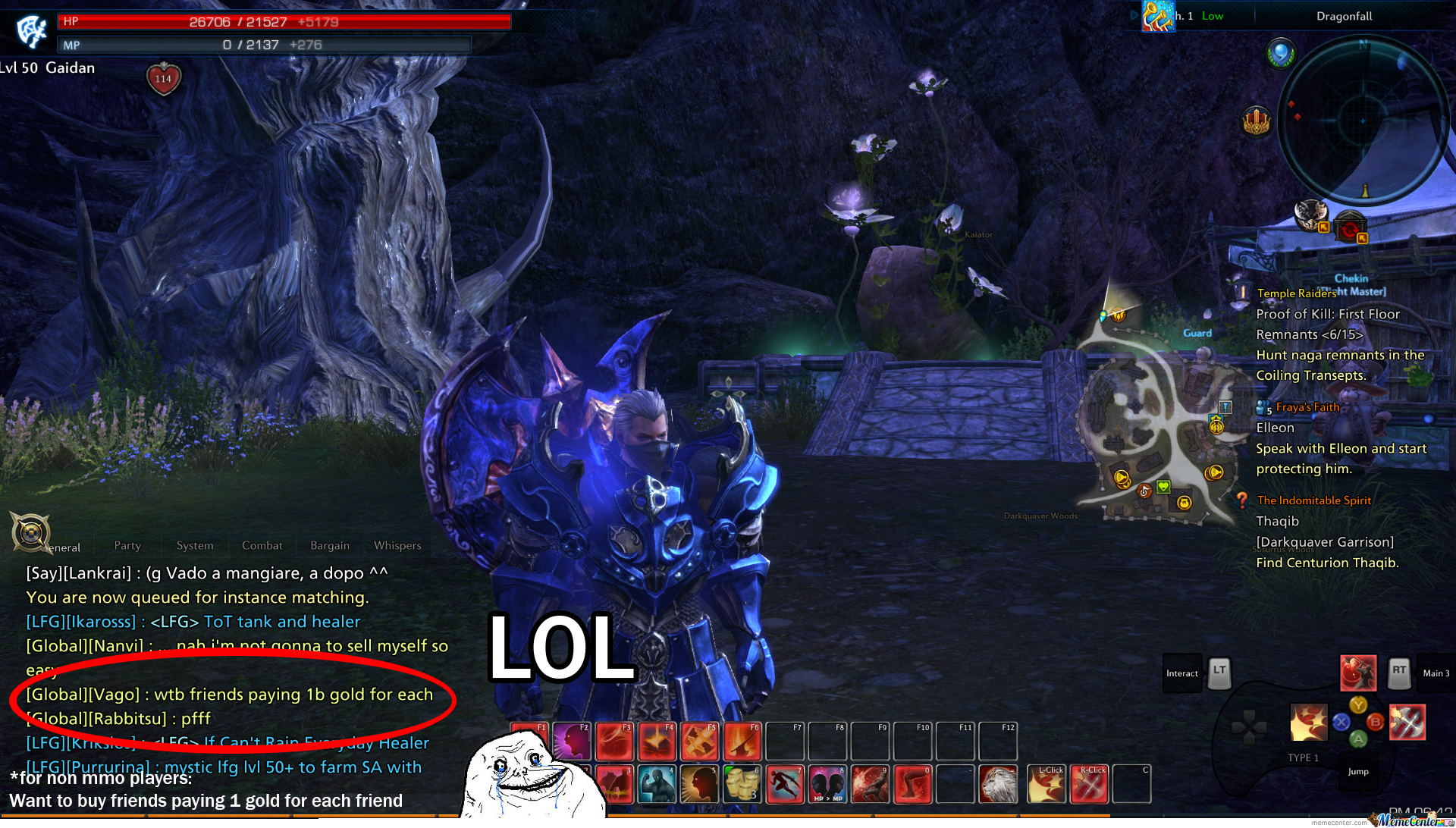 Forever Alone In An Mmo