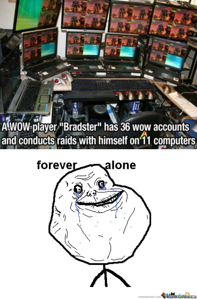 Forever Alone Level Is Over 9000!!1!one!