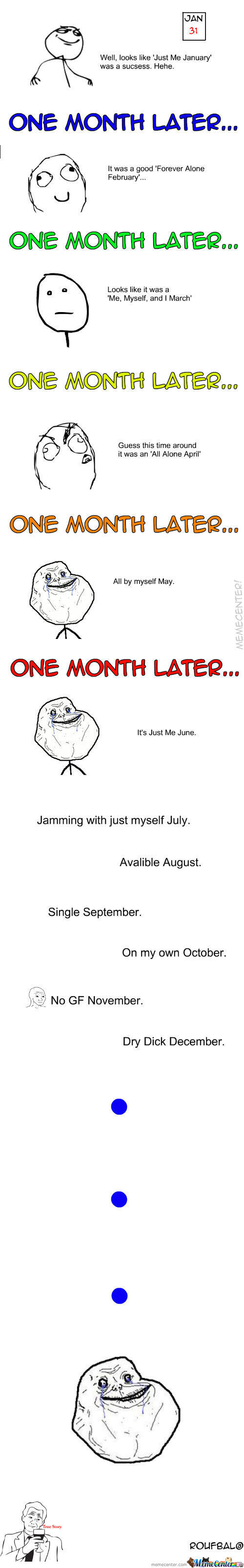 Forever Alone Throughout The Year