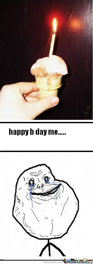 forever alone's cake