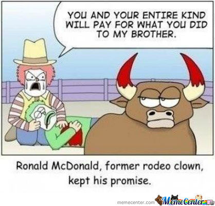 Former Rodeo Clown, Kept His Promise.