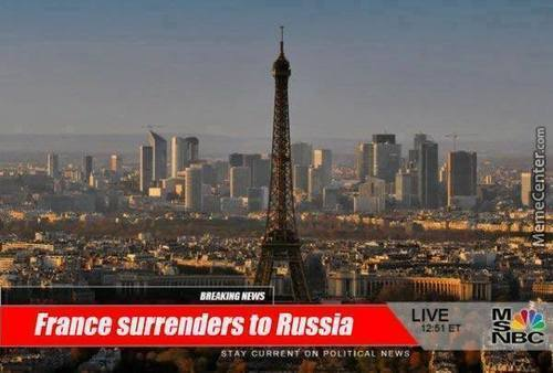 France Surrenders To Russia Already