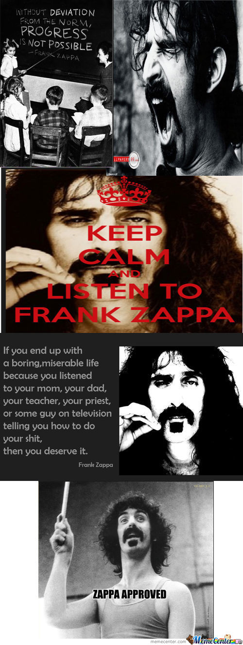 Frank Zappa (Not Enough Kids From My Generation Listen To Him)
