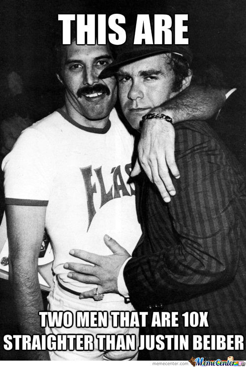 Freddie Mercury And Elton John by snipanater - Meme Center