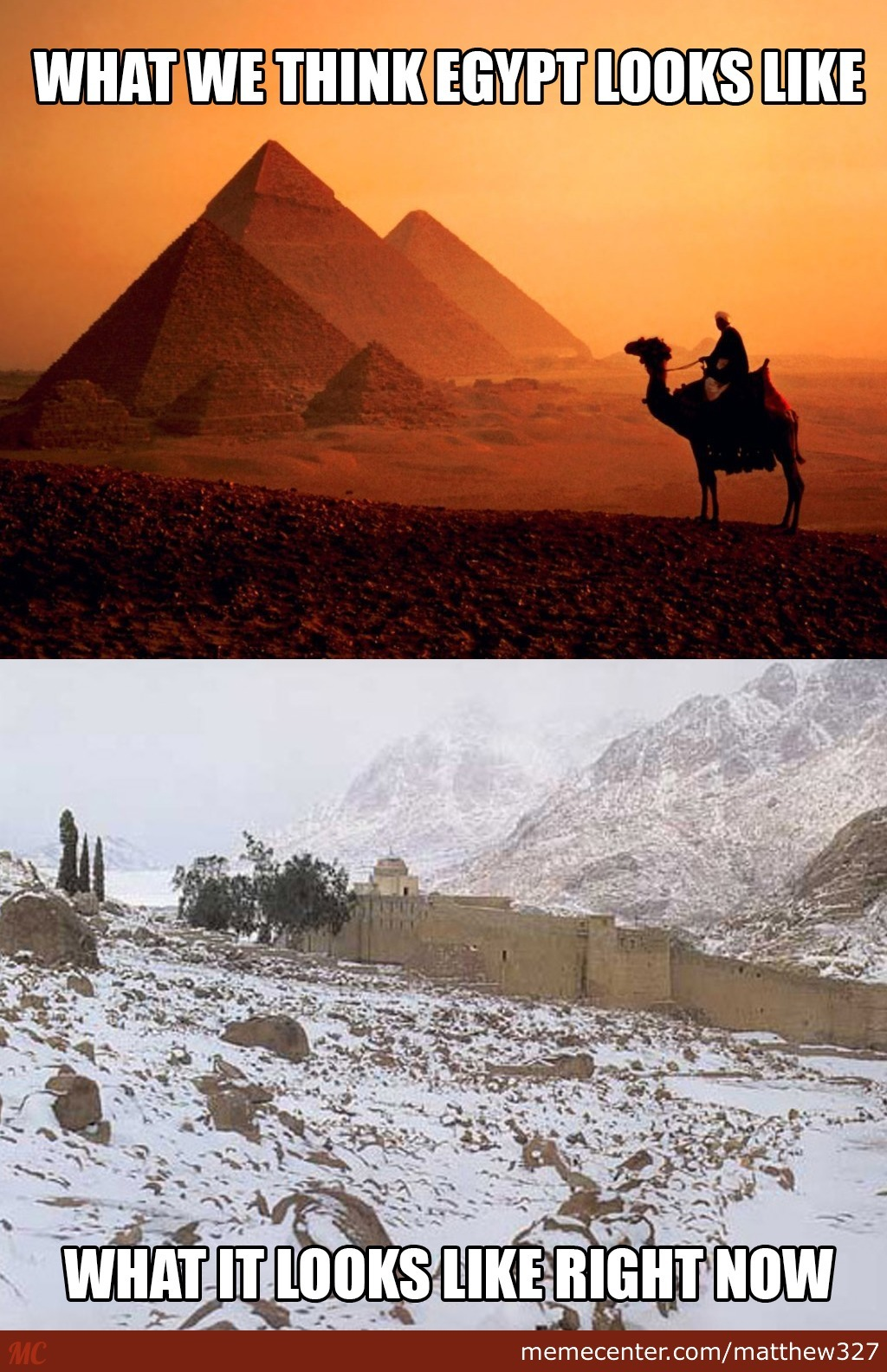 Friend From Egypt Sent Me The Bottom Picture - Thats St. Catherine Monastery, Egypt.
