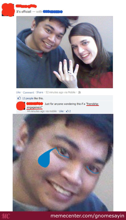 Friendzone Level: Fiancé