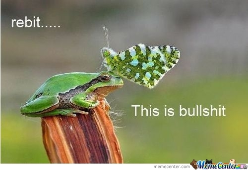 Frog Is Not Impressed